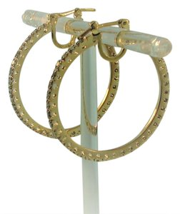 Other Eternity Hoop Diamond Earrings-18k Yellow Gold
