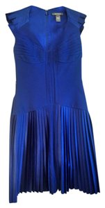 Zac Posen Pleated Sash Silk Satin Dress