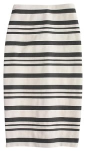 J.Crew Pencil Double-stripe Cotton/poly Skirt Navy