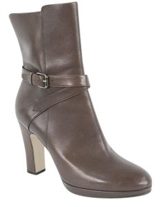 Max Mara Leather Brown Boots