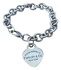 Tiffany & Co. Tiffany & Co. 925 Sterling Silver Return To Tiffany Heart Tag Bracelet