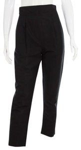 Cynthia Rowley Empire Waist Pencil Pleated Trouser Pants Black