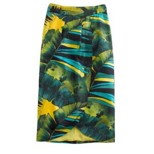 J.Crew Faux-wrap Silk Multicolor Skirt Jungle