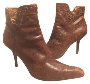 Nine West Brown/Brass Accents Boots