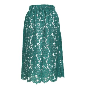 J.Crew Green Floral Lace Nylon/poly Skirt AGR Green