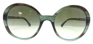 Chanel Chanel Round Green/ Gradient Frame Metal chain Sunglasses