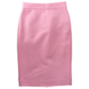 J.Crew Pencil Tall Double-serge Wool Skirt Pink