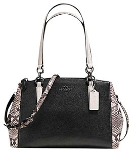 Coach Carryall Christie Tote 36637 Satchel in antique nickle Black