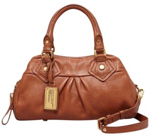 Marc by Marc Jacobs Brown Leather Pocket Satchel in light brown