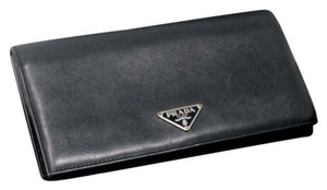Prada Prada Signature Saffiano Long Wallet With Elegant Soft Leather