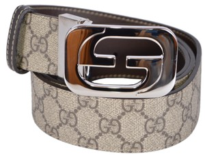 Gucci New Gucci Men's 245861 GG Supreme Coated Canvas Reversible GG Belt