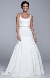 David's Bridal Ivory Ai10030419 Formal Wedding Dress Size 8 (M)