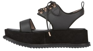 Matisse Suede Chunky Leather Kate Bosworth Black Platforms