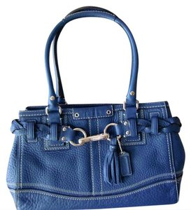 Coach Satchel in Cobalt Blue