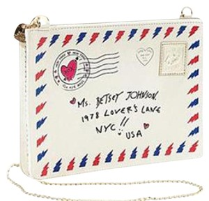 Betsey Johnson Cream Love Letter Cross Body Bag