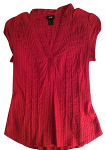 H&M Tailored Cap Sleeves Work Top Red