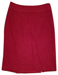 Banana Republic Pencil Wool Skirt Dark Red