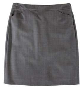 Theory Pleated Skirt Gray