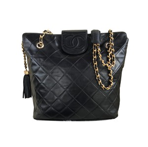 Chanel Boy Flap Double Maxi Hermes Tote in Black