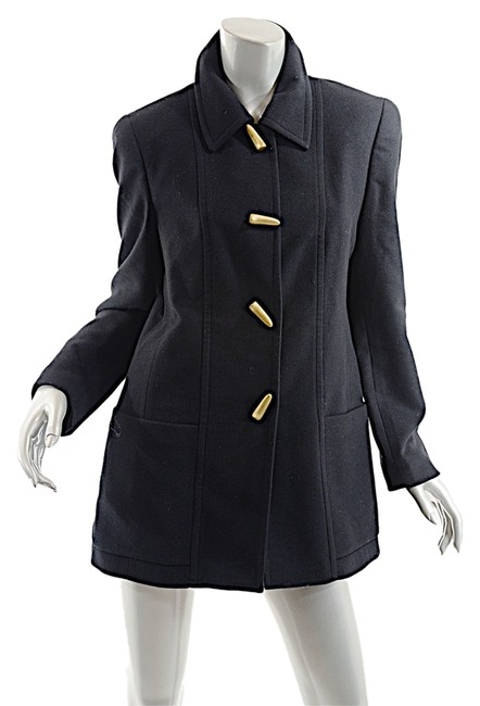 Louis Feraud Toggles France Black Jacket