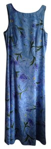 Pale Blue Floral Print Maxi Dress by Casual Corner