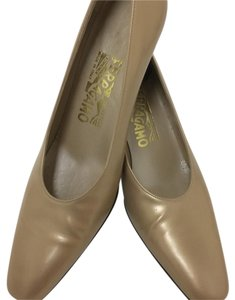 Salvatore Ferragamo Metallic Ferragamo Two-tone Pumps