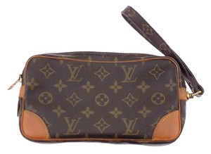 Louis Vuitton Marly.dragonne Pm Brown Monogram Clutch