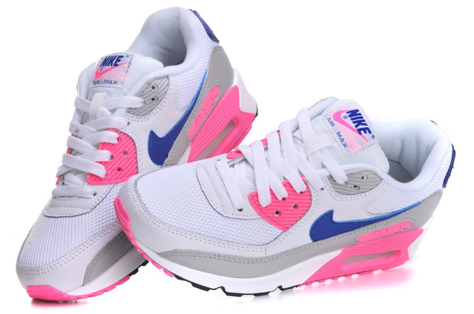 71bba5d7aed Nike White/Concord Zen Grey/Pink Glow Women's Air Max 90 Essential Sneakers  Size US 7.5 Regular (M, B) 36% off retail
