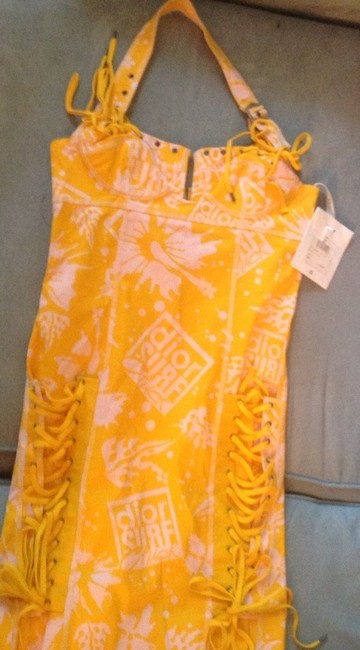 Dior short dress Yellow And Pink on Tradesy