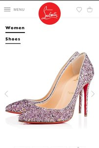 Christian Louboutin Pink - purple - gold Pumps