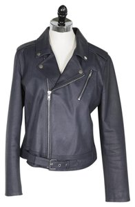 Theory Lamb Leather Lambskin Gray Leather Jacket