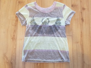 Free People T Shirt Multi - Purple Green tones