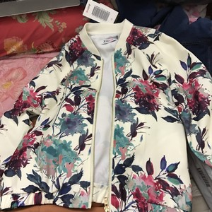 JustFab White and Floral Jacket