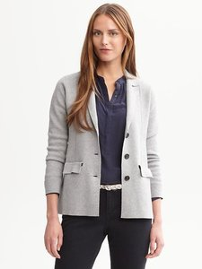 Banana Republic Tailored Classic Light Heather Grey Blazer