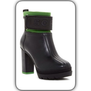 Sorel Black/Green Boots