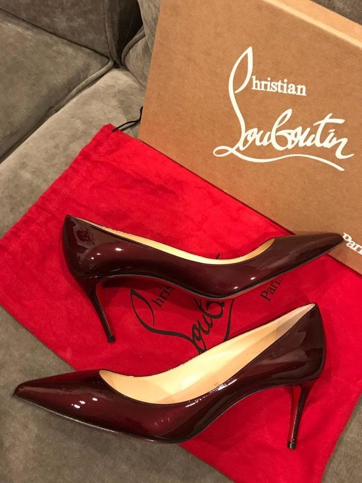 reputable site 5279f 4ecdf Christian Louboutin Burgundy Decollete 554 70 Patent Leather 37 Pumps Size  US 7 24% off retail
