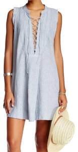 Free People short dress Blue, White on Tradesy