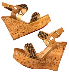5355fab008d0 Brown Christian Louboutin Wedges - Up to 90% off at Tradesy