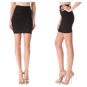 Hervé Leger Mini Skirt black