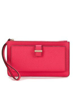 Kate Spade Leather Wristlet in Pink Confetti