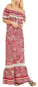 Red and white Maxi Dress by Other