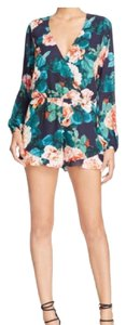 Show Me Your Mumu Dress Shorts Navy with Floral