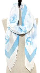 Other Nautical Anchor Print Sea Blue Scarf Pareo Wrap