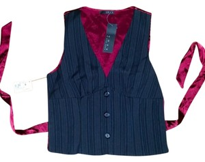 Voxx New York Buttons Stripes Pinstripe Vertical Stripe Vest