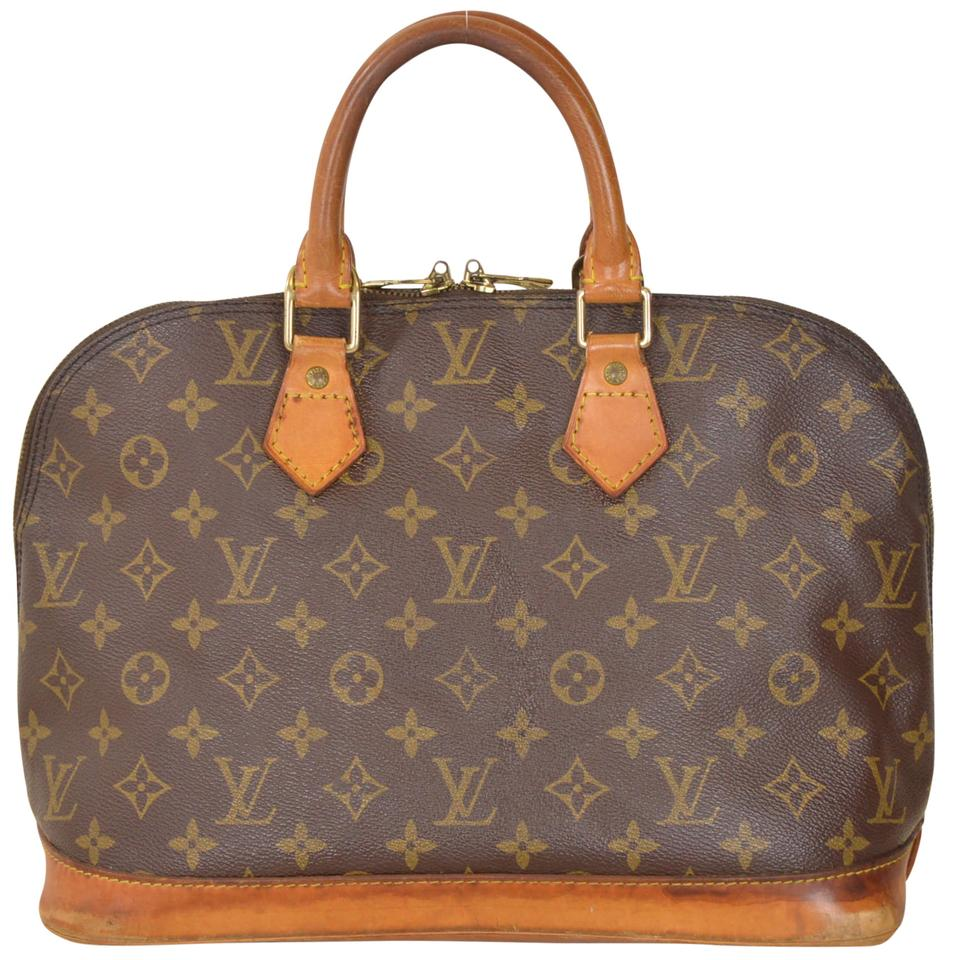 Louis vuitton monogram alma handbag m51130 brown satchel for Louis vuitton miroir alma bag price