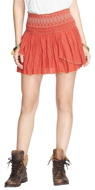 Item - Orange Lip Smocking Good Skirt Size 4 (S, 27)