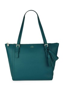 Kate Spade Leather Strap Tote in Emerald Forest
