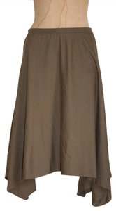 American Apparel Asymmetric Olive Summer Spring Knit Skirt GREEN