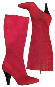 Via Spiga Suede Suede Knee Red Boots