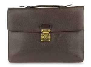 Louis Vuitton Briefcase Attache Taiga Leather Carry On Business Laptop Bag